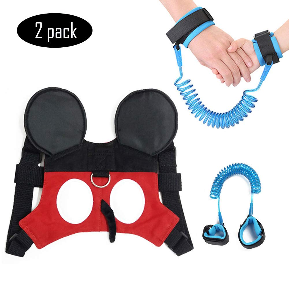 (2 kit) Toddler Harness Safety Walking Leash Child Strap Anti Lost Wrist Link for Baby Girls Boys WSPER
