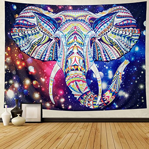 DIPPERION Starry Elephant Trunk Tapestry Indian Ethnic for sale  Delivered anywhere in USA