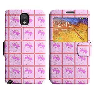 LEOCASE linda chica Funda Carcasa Cuero Tapa Case Para Samsung Galaxy Note 3 N9000 No.1004338