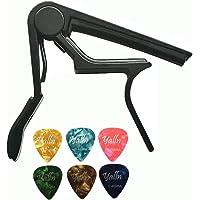 ccessories Trigger Capo Key Clamp Black With Free 6 Pcs Guitar Picks