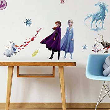 Roommates Rmk4075scs Disney Frozen 2 Character Peel And Stick Wall Decals 21 Wall Stickers Elsa Anna Olaf Kristoff Sven