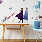 RoomMates RMK4075SCS Frozen II Peel and Stick Wall Decals, Blue. White, Purple