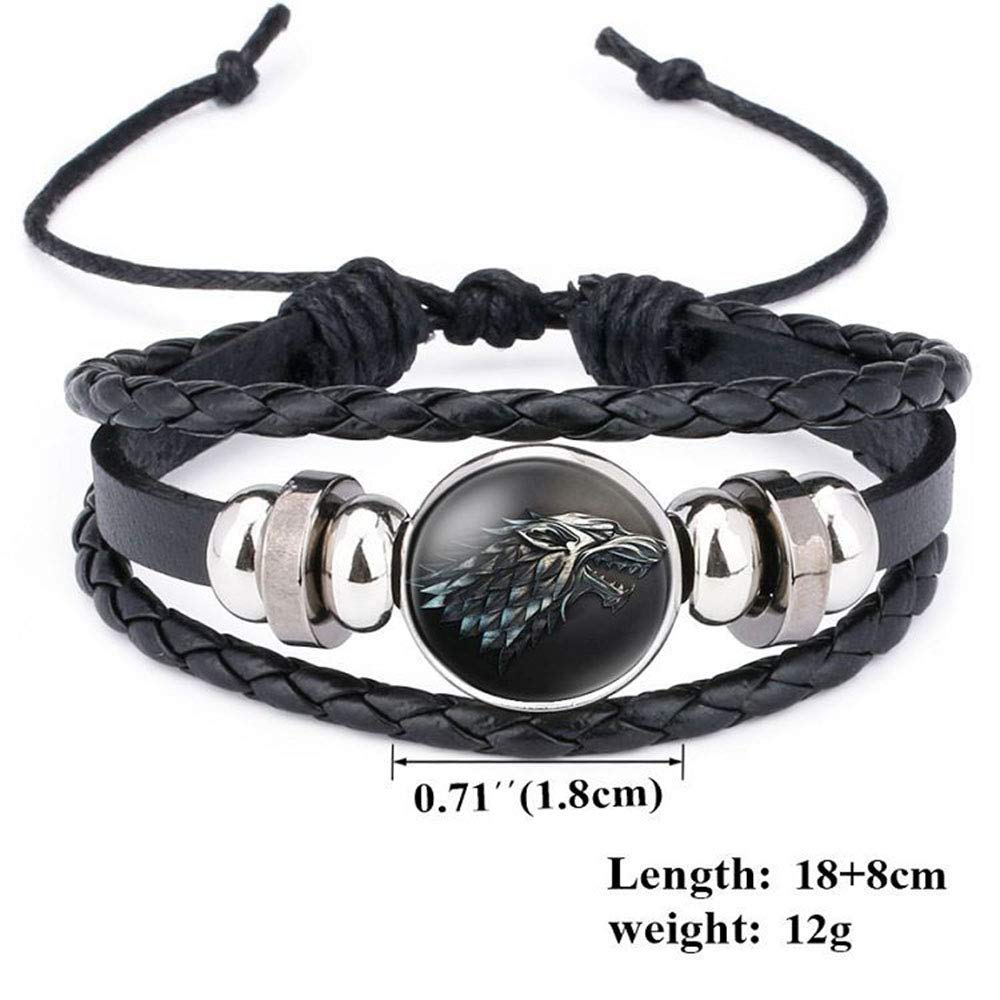 BRE Bracelet Leather Game of Thrones Icon Badge Cuff Bracelets Jewelry Wristband