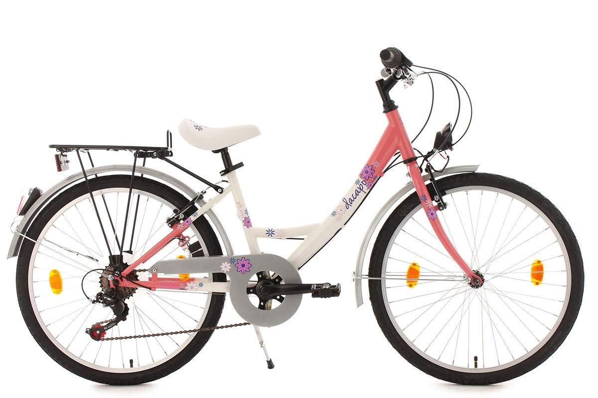 KS Cycling Kinder Fahrrad Dacapo Florida RH 36 cm Weiß/Rosa 24 401D