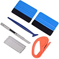 Vehicle Vinyl Wrap Window Tint Film Tool Kit Include 4 Inch Felt Squeegee, Retractable 9mm Utility Knife and Snap-off…