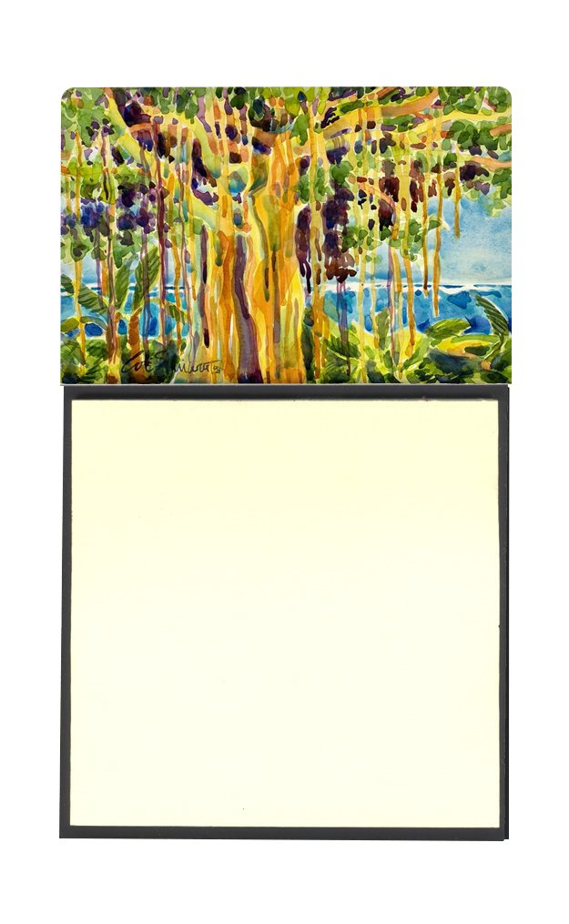3.25 by 5.5 Multicolor Carolines Treasures Tree-Banyan Tree Refillable Sticky Note Holder or Postit Note Dispenser