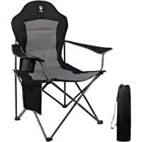 $52 » EVER ADVANCED Oversized Padded Quad Arm Chair Collapsible Steel Frame High Back Folding…
