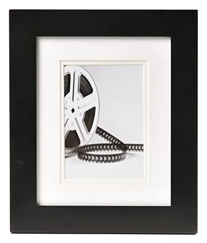 Amazon.com: Carr Black Gallery Frame with White Double Mat for a 5 ...