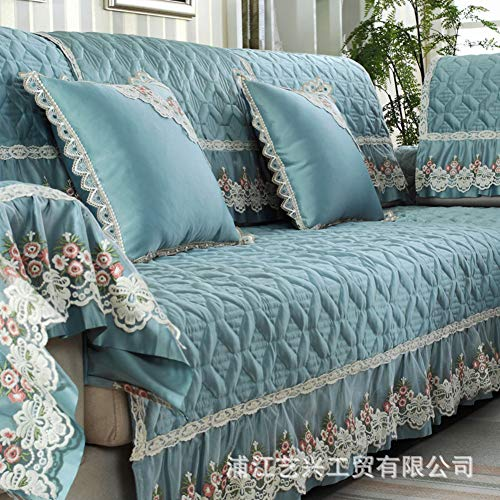 AFAHXX Lace Quilted Cotton Thicken Couch Covers,Decorative Sofa Cover Slipcover Slipcover Sofa Slipcover L Peninsula Non-slip-B 70210cm(2883inch) by AFAHXX