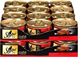 SHEBA Pate in Natural Juices Beef Entrée Canned Cat Food 3 Ounces (Pack of 24)