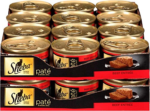 SHEBA Pate in Natural Juices Beef Entrée Canned Cat Food 3