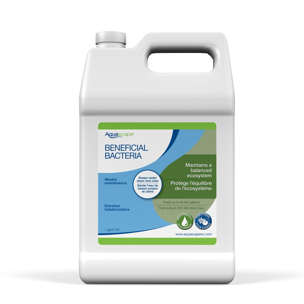 Aquascape Beneficial Bacteria for Pond and Water Features, Liquid, 1-Gallon Bottle | 98885 by Aquascape