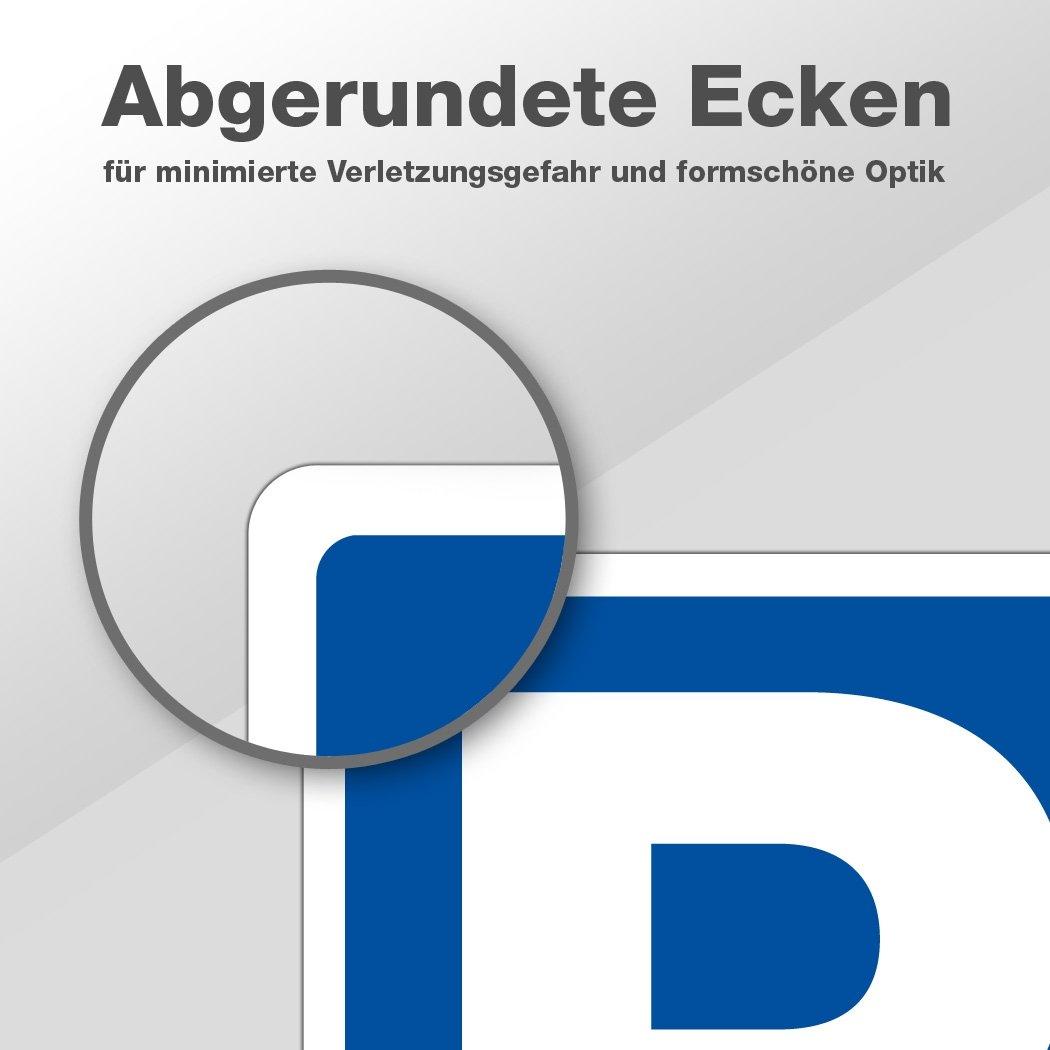 ca. DIN A5 Gr/ö/ße 21 x 15cm Hochwertiges Alu-Verbundmaterial Parkplatzschild /«Wohnung 4/»