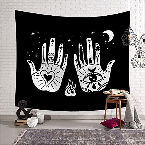 Old Legend Altar Tarot Divination Palm Tapestry Wall Hanging Hippie Ethnic Decorative Art Window Curtain Table Cover Bedspread Beach Towel HYC44-10-L - Old Altar