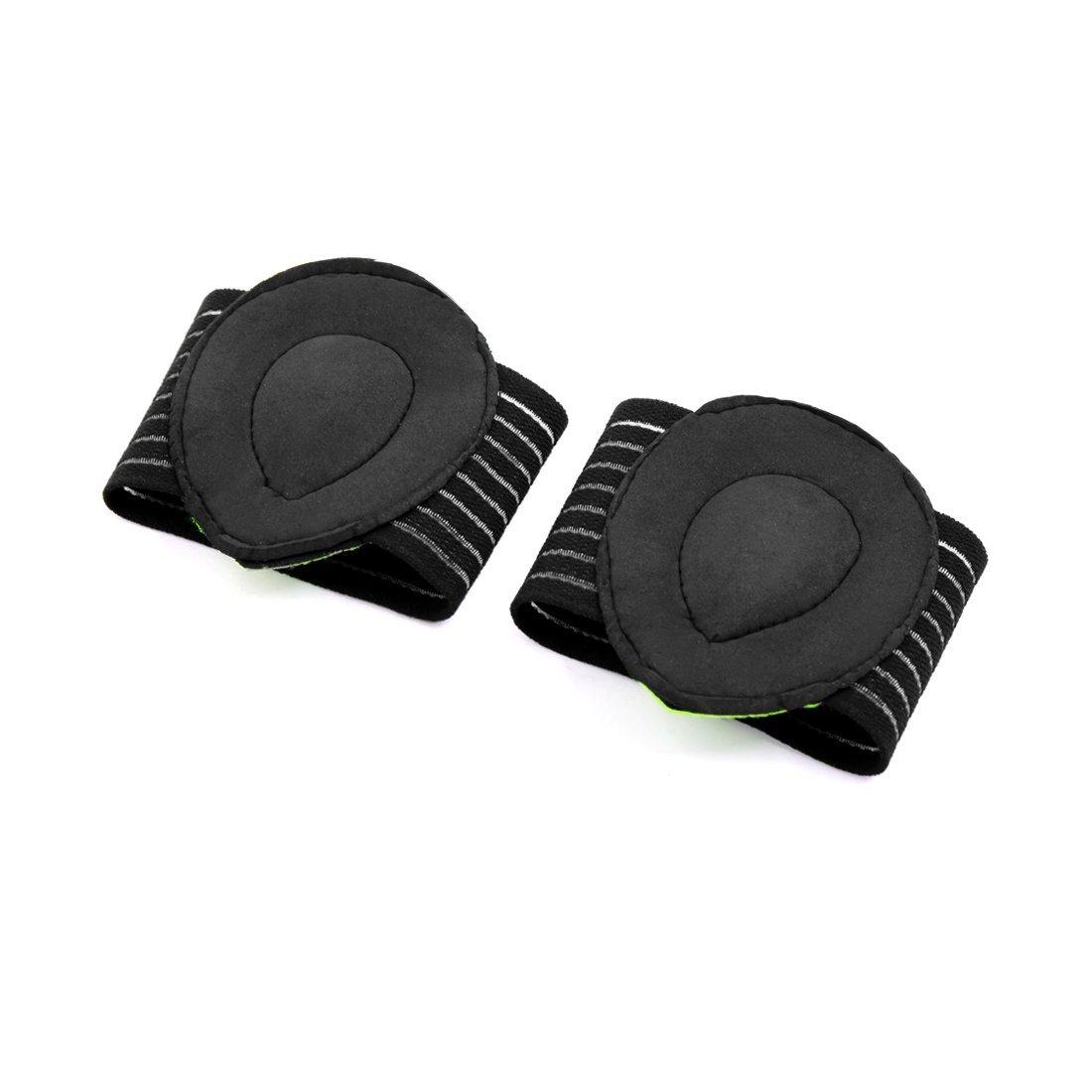 Amazon.com: eDealMax 1 Par Verde Negro Un tamaño arco de soporte Con Comfort Gel-Cojines fascitis Plantar Wrap: Health & Personal Care