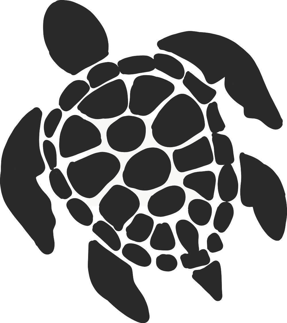 hBARSCI Sea Turtle Vinyl Decal - 5 Inches - for Cars, Trucks, Windows, Laptops, Tablets, Outdoor-Grade 2.5mil Thick Vinyl - Matte Black