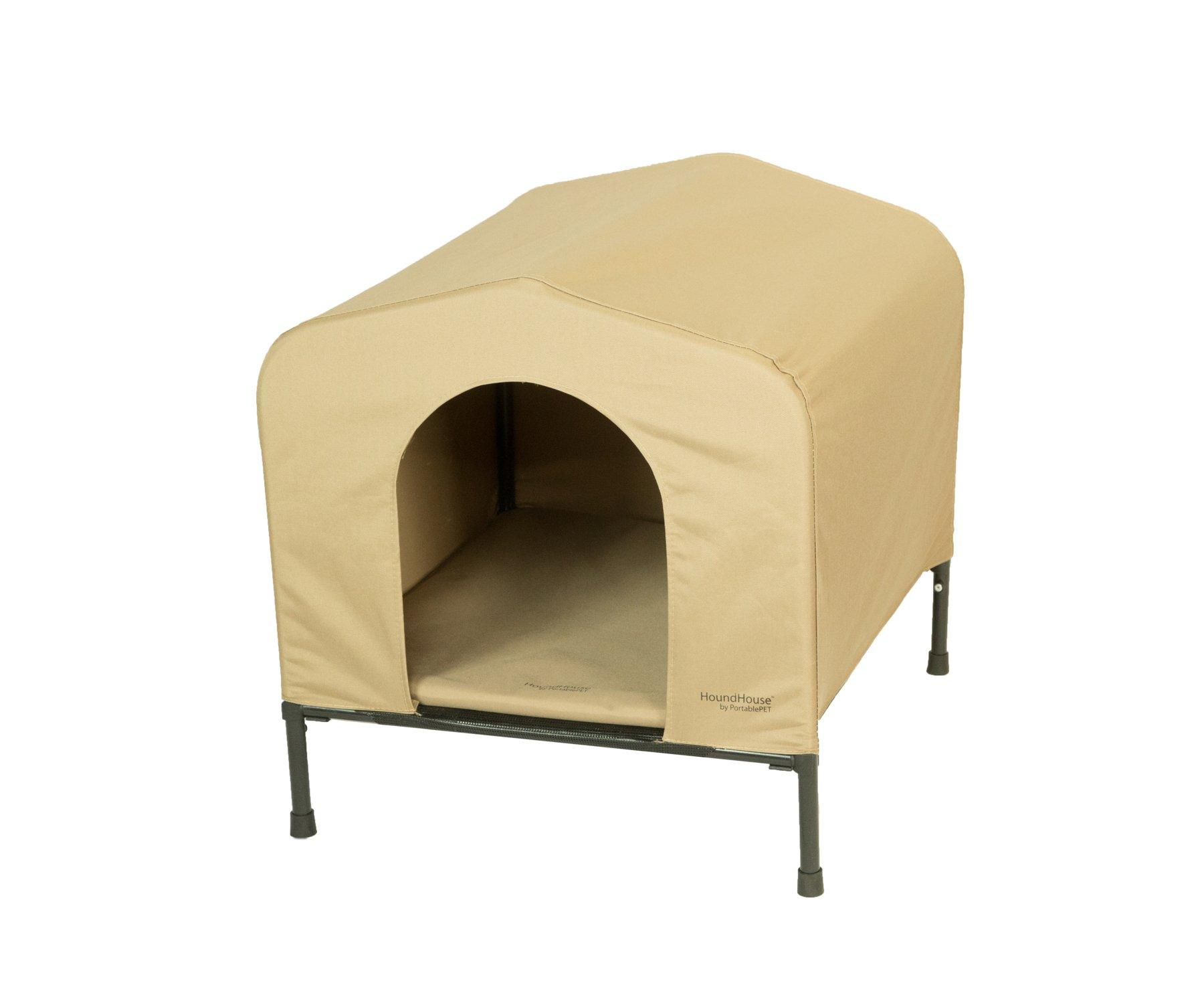 Heininger 3096 PortablePET Large Khaki HoundHouse Kennel and Shelter by Heininger