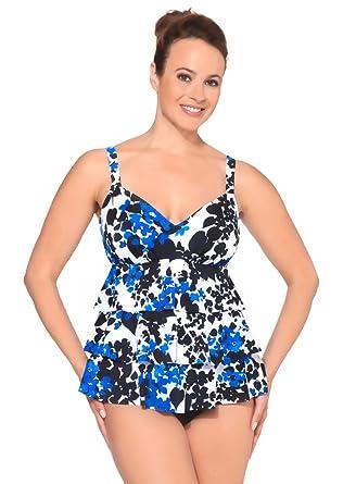 c0a737746bd Amazon.com: Penbrooke Carmen Triple Tier Fauxkini Blue 12: Clothing