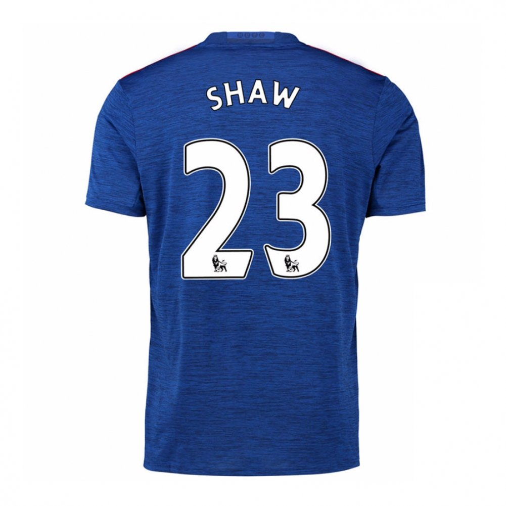 2016-17 Manchester United Away Football Soccer T-Shirt Trikot (Luke Shaw 23)