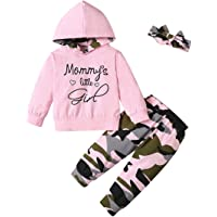 Toddler Baby Girl Clothes Letter Print Hoodie Top+Floral Long Pants+Headband 3Pcs Fall Winter Outfits