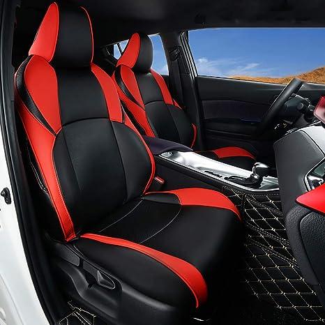 Amazon.com: Fundas de asiento de coche CHRZD001 de piel ...