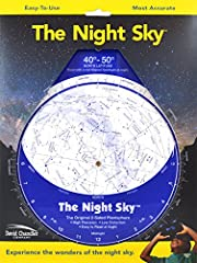 The Night Sky is a rotating star finder- or planisphere that allows the user to recognize the constellations for any time of night, any day of the year. The sky appears to rotate (due to the rotation and orbital motion of the earth), so to be...