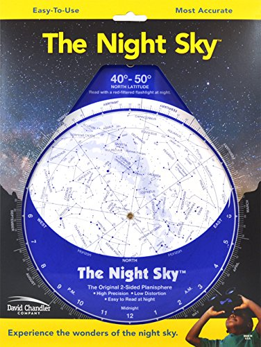 The Night Sky 40°-50° (Large) Star Finder (Constellation Charts Maps Star)
