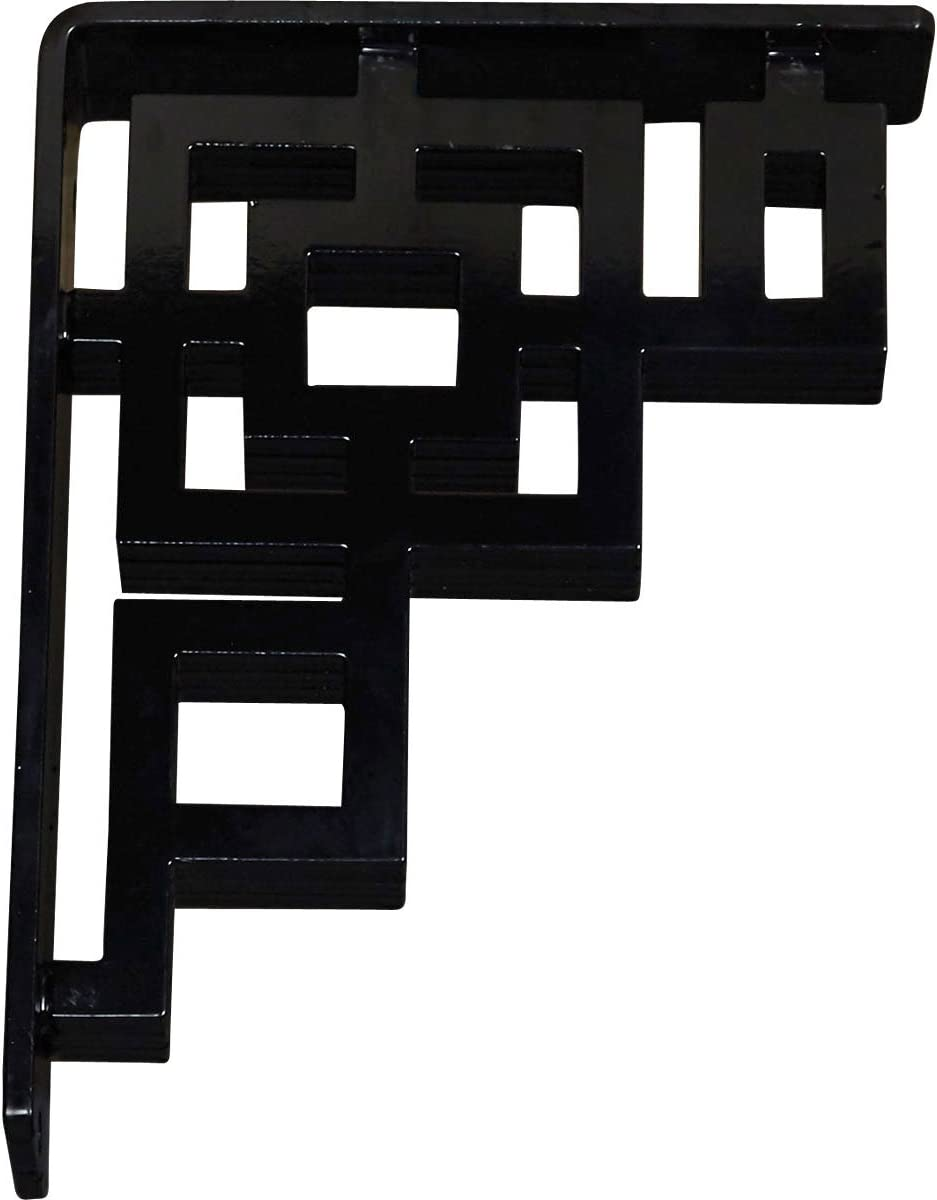Ekena Millwork BKTM02X07X10TER Wrought Iron Bracket 2W x 7 1//2D x 10H Powder Coated Black 1 1//8W Center Brace
