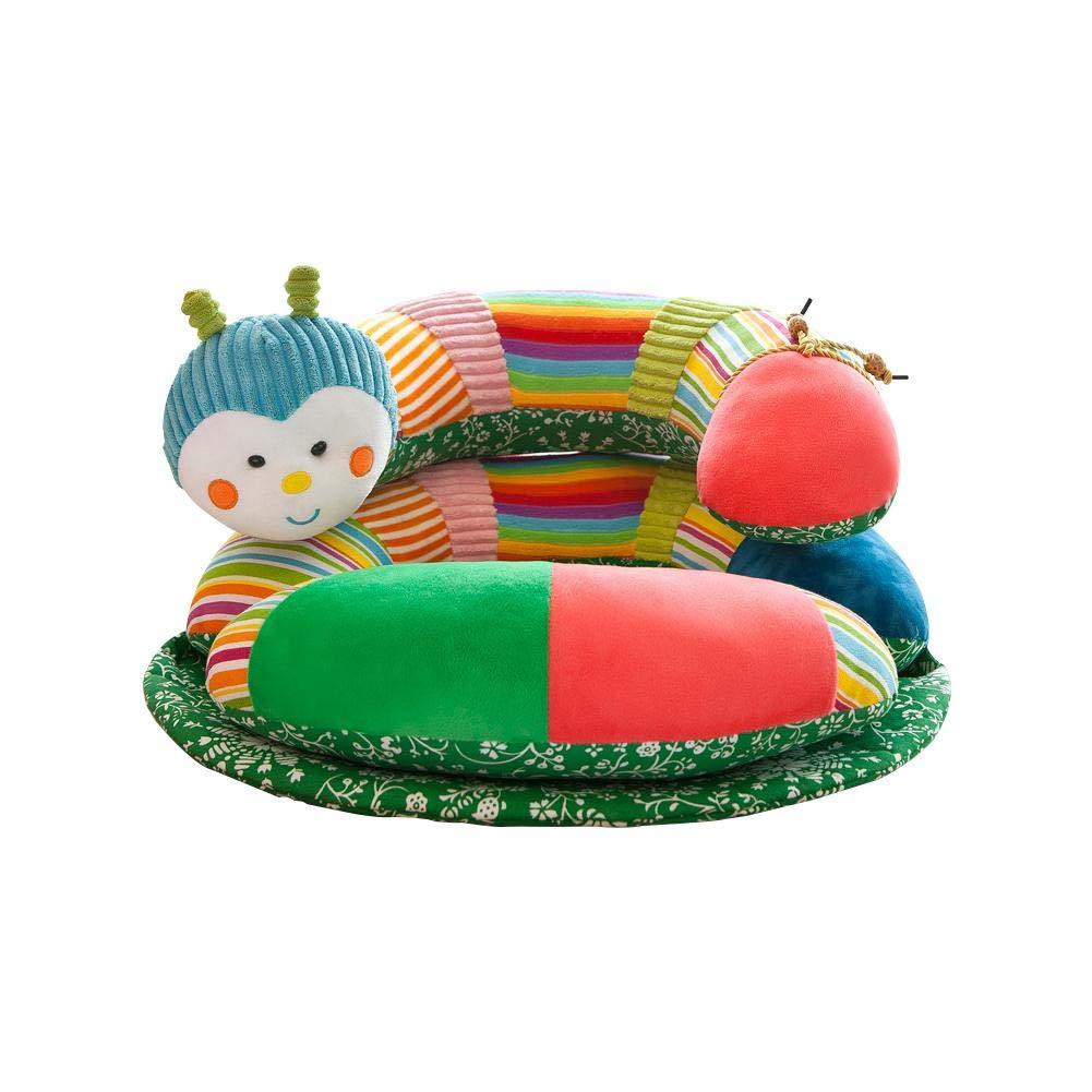 colinsa Asiento de Bebe Asiento de Aprendizaje bebé sofá Suave Suave Cómodo Lindo Caterpillar Dibujos Animados Peluche