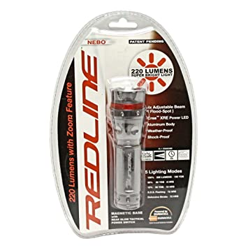 Nebo 5581 220 Lumen Redline Tactical Flashlight Strobe S.O.S ...