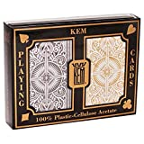Springbok KEM Arrow Playing Cards: 2 Deck Set Black and Gold, Standard Index