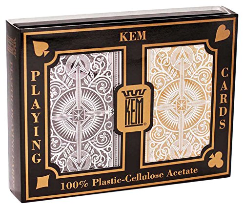 KEM Arrow Black and Gold, Bridge Size- Standard Index Playing Cards (Pack of - Standard Table Size Bridge
