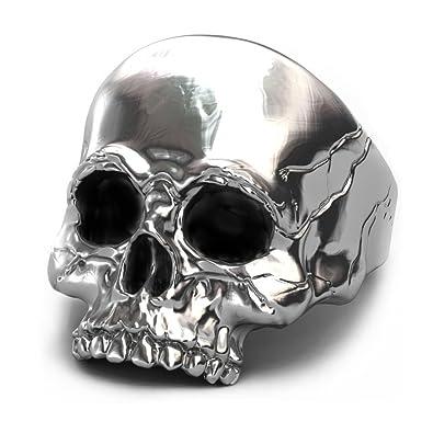 EVBEA University Rings for Men Gothic Jewelry Big Statement Skull