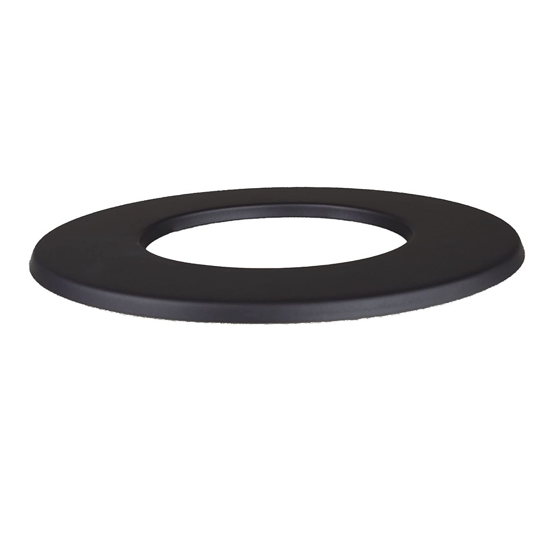 Kamino - Flam - Rosetón para tubo de chimenea (Ø 120 mm), Rosetón anillo para tubos de estufa, Rosetón conector para sistema de chimeneas, estufas, ...