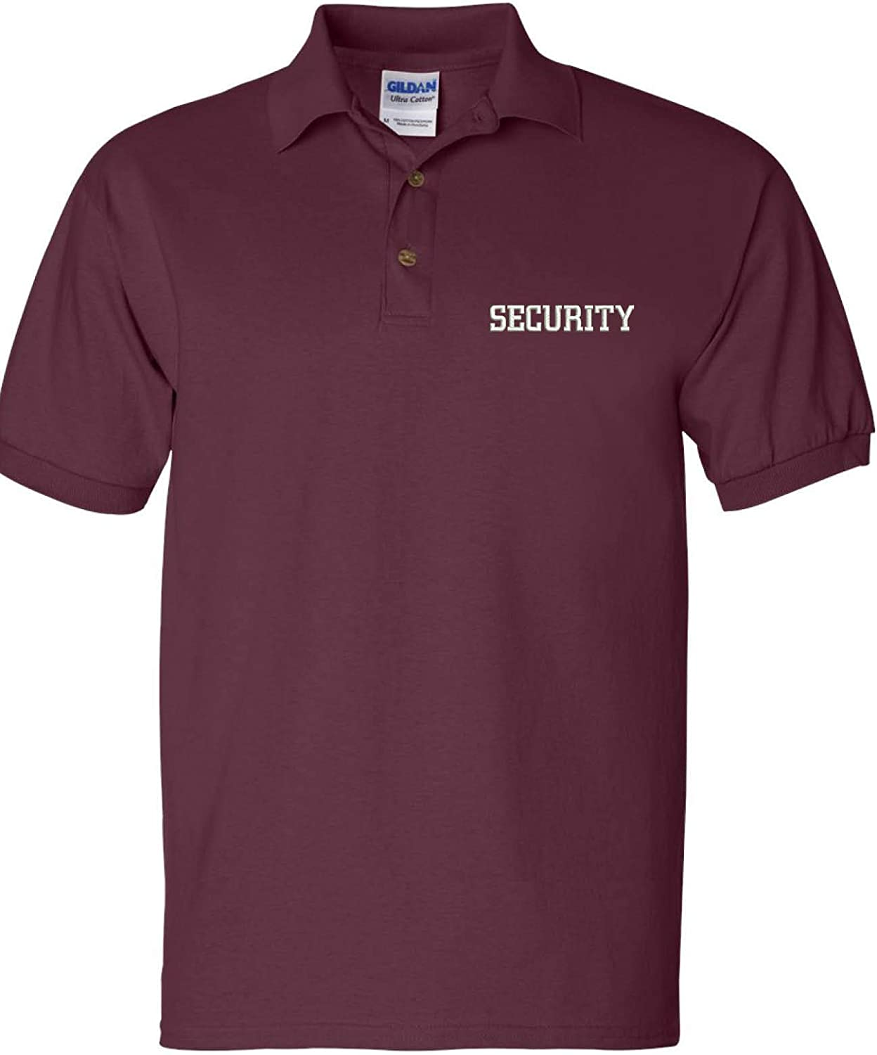 ALLNTRENDS Mens Polo T Shirt Security Embroidered Officer Top Embroidery Guard