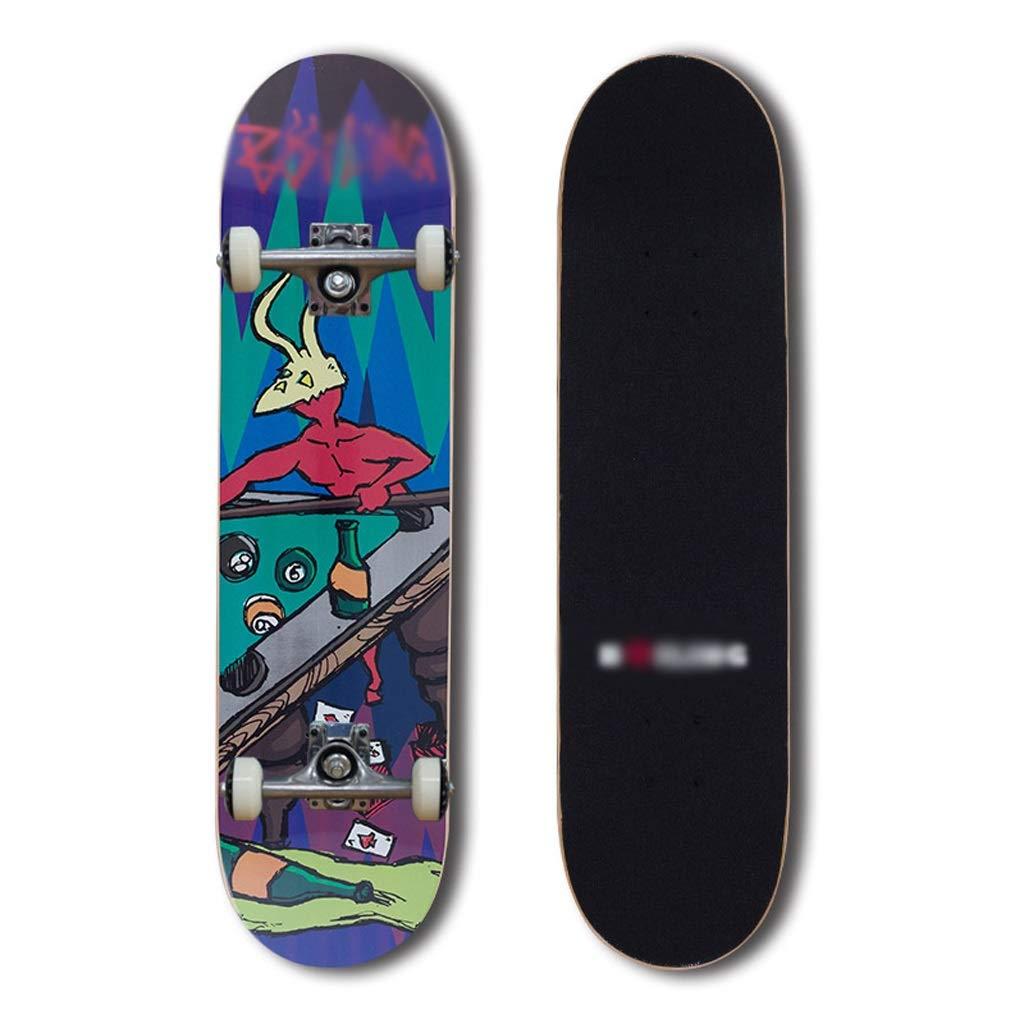 世界の DUWEN スケートボードプロフェッショナルダブルロッカースケートボード大人メープルスケートボードティーン初心者ブラシストリートトラベルスクーター (色 : E E) (色 : B07NRVLTDJ E, パウンドケーキ工房 パリ21区:069d4ade --- a0267596.xsph.ru