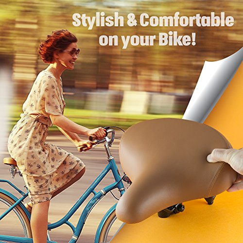 Most Comfortable Cruiser Bike Saddle Extra Wide Bicycle