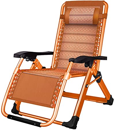 Reclinables Feifei Sillas Jardín Tumbona Textoline Sillas de Playa Al Aire Libre Patio Siesta Chair Plegable Cámping 150kg Capacidad (Color : Without Cushion): Amazon.es: Hogar
