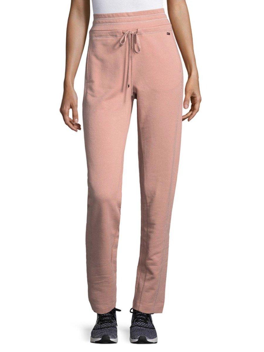 ESCADA Activewear-Women's Pink Efrida Drawstring Pants (L - Large, Tricot)