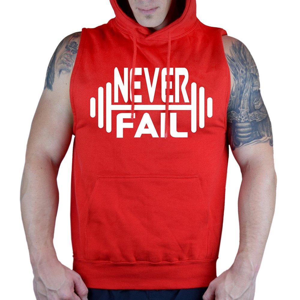 Interstate Apparel Mens Never Fail V112 Sleeveless Vest Hoodie