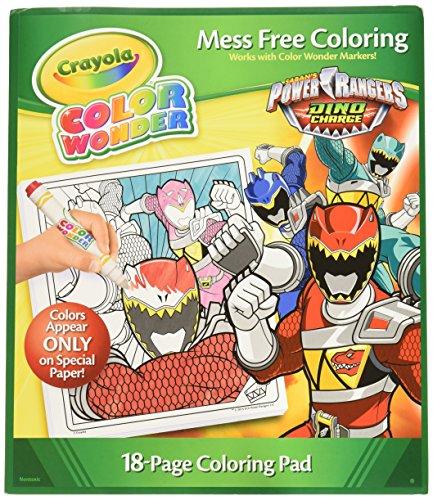 Crayola Color Wonder Coloring Pad, Power Rangers -