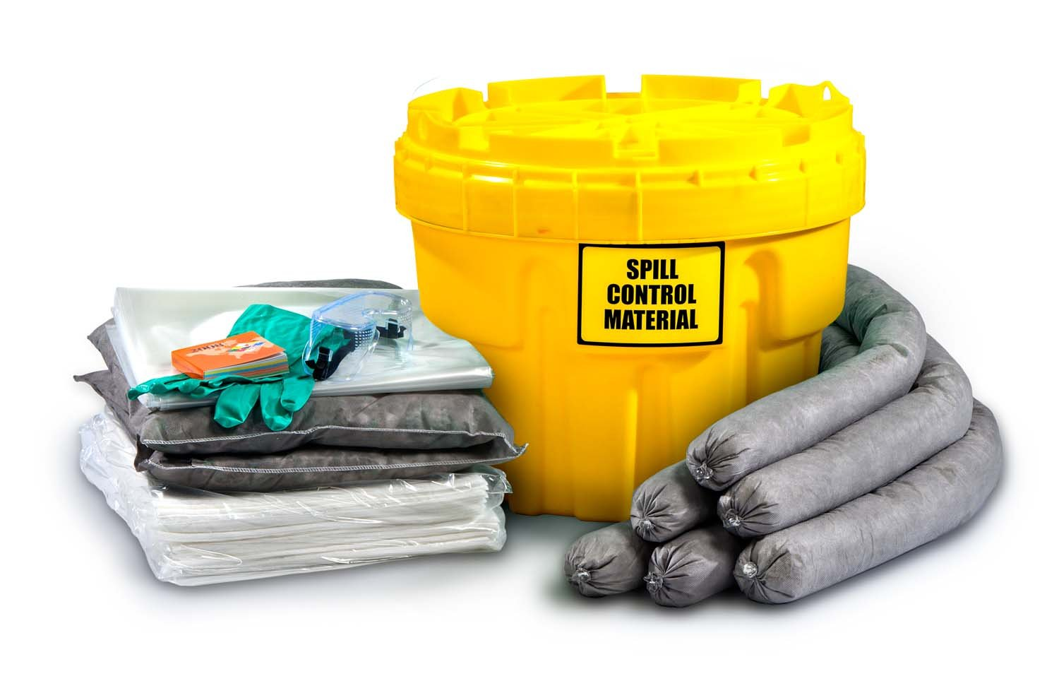 ESP SK-U20 34 Piece 20 Gallons Universal Absorbent Ecofriendly Spill Kit, 20 Gallons Absorbency, Yellow by ESP