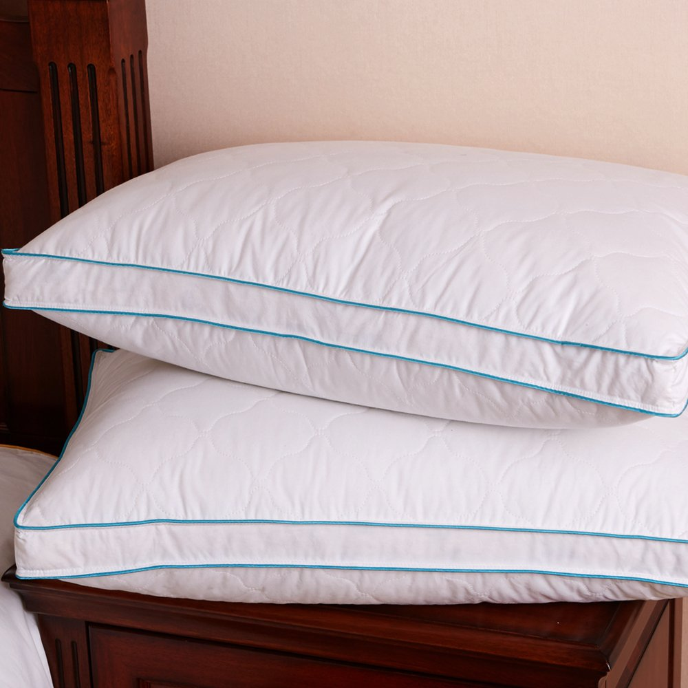 DOWNIGHT Set of 2, Down and Feather Pillow Double layered Fabric Bed pillow, King