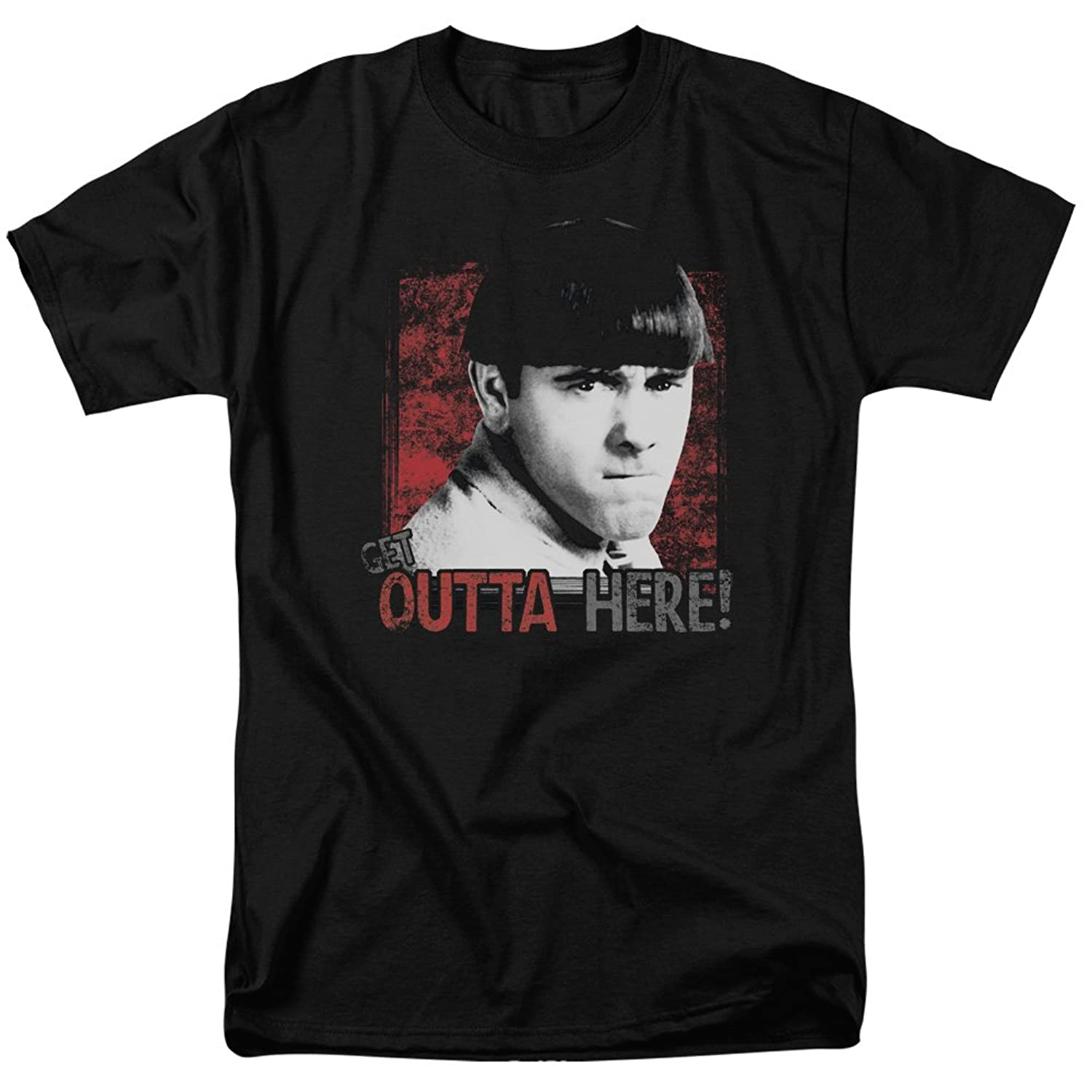 Three Stooges - Mens Get Outta Here T-Shirt