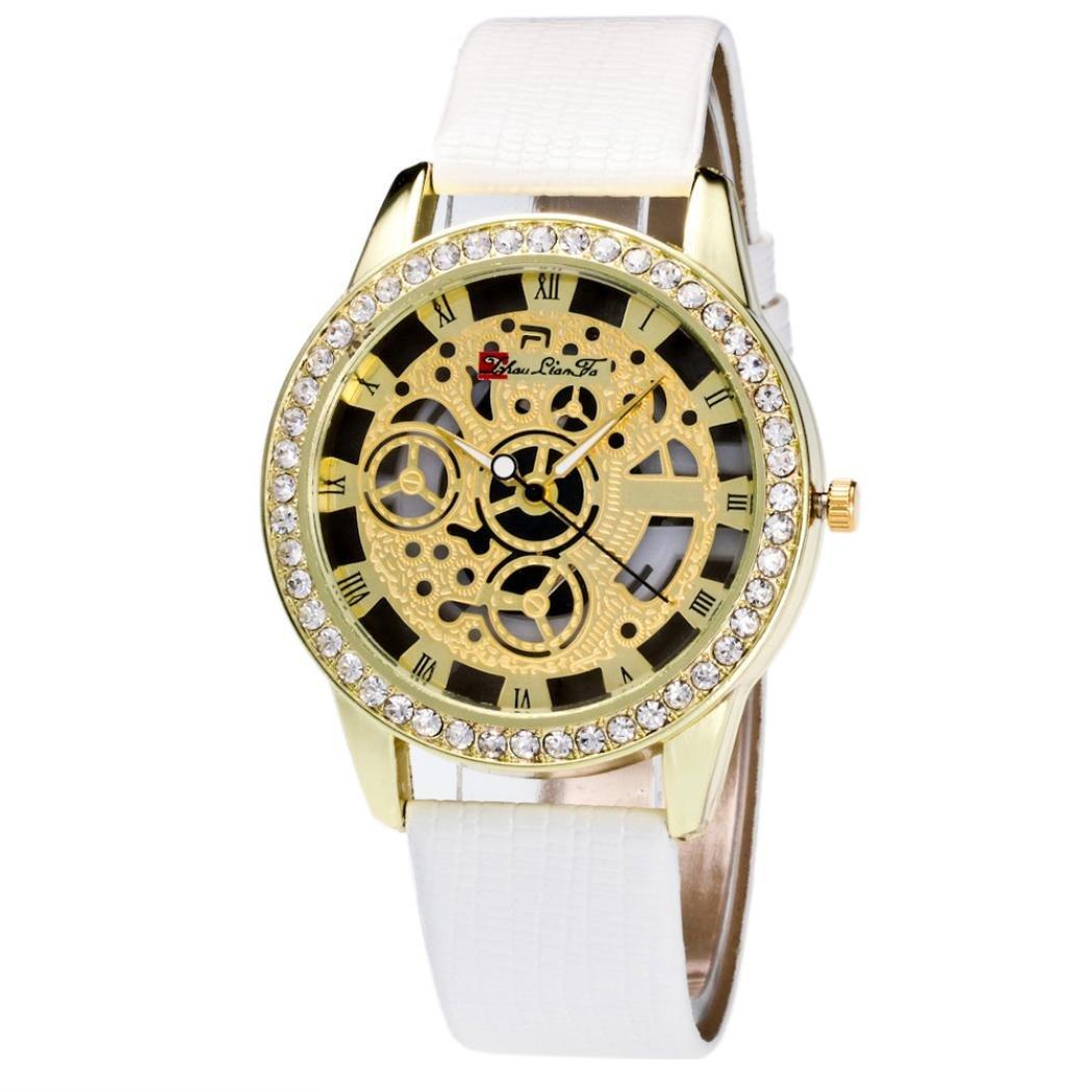 howstar Watch LuxuryオスとメスWatchキャンディーカラーストラップ手首腕時計、すべての行事のチャーミング  ホワイト B071HTZ2KT