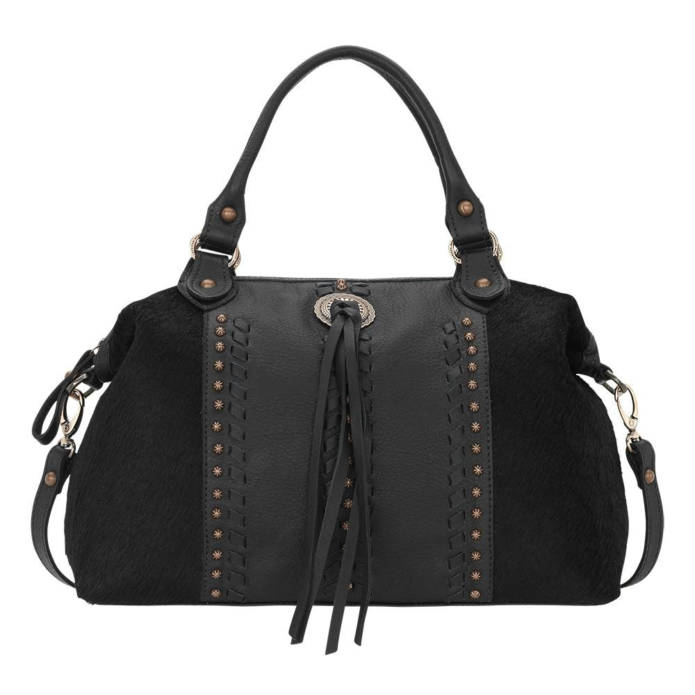 4120227 American West Women's Cow Town Purse - Black