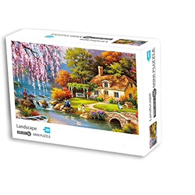 ANOVEL Puzzles for Adults Mini Jigsaw Puzzles 1000 Pieces Landscape Puzzles: Toys & Games