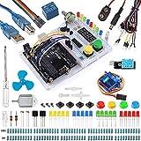 Smraza Ultimate Starter Kit with Tutorial, Breadboard Holder, Jumper Wires, Resistors, DC Motor for Arduino R3 Project Mega 2560 Nano