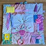 Fidget Blanket for Dementia | Fidget Quilt | Alzheimer's Blanket | EMBROIDERED FLORAL BASKET/by Restless Remedy