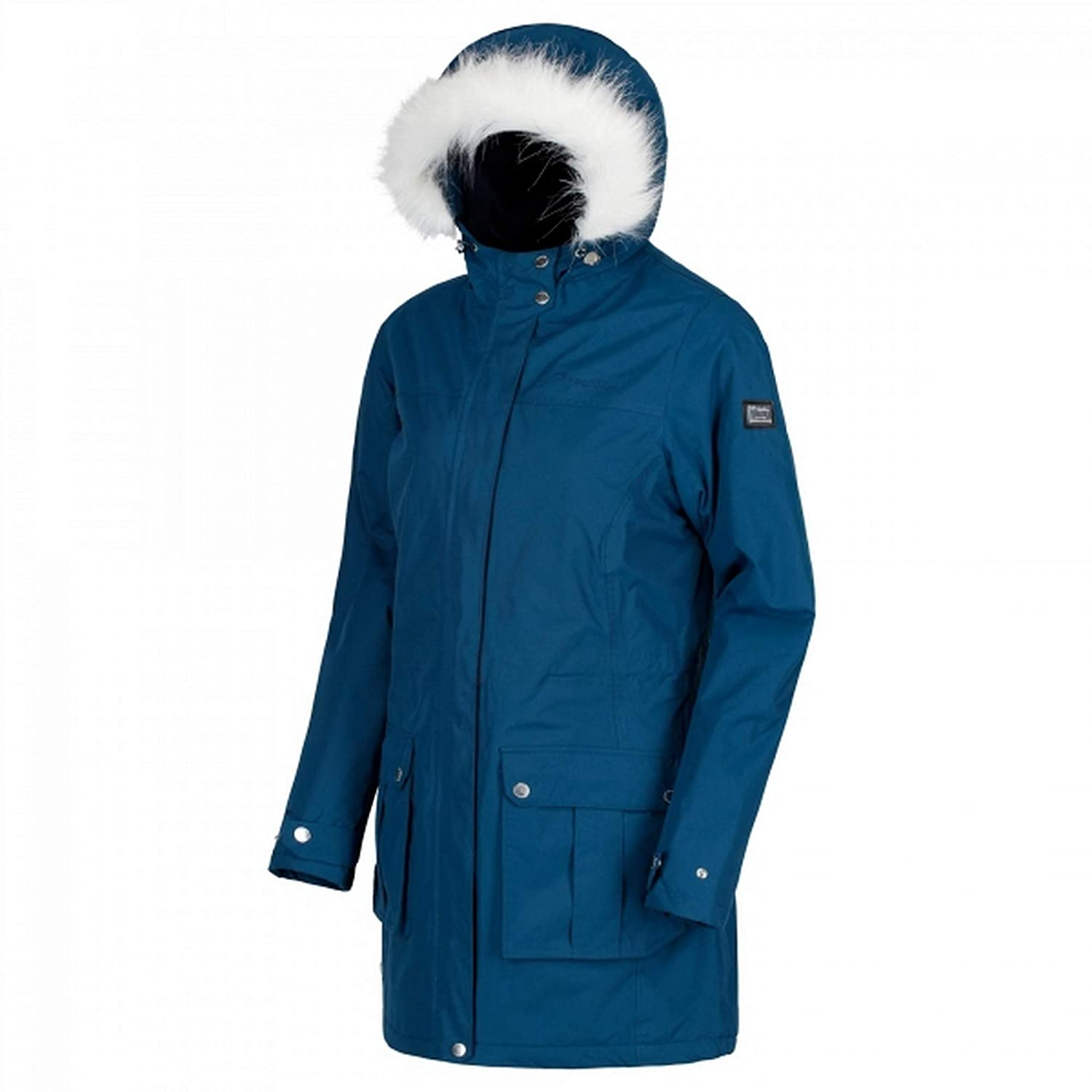 Capri bluee Regatta Womens Ladies Sherlyn Full Length Hooded Jacket